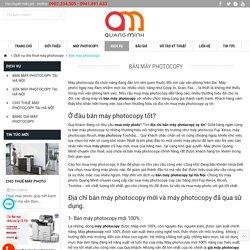 Bán máy photocopy uy tín tại Hà Nội
