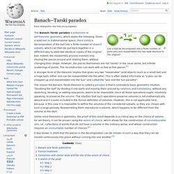 Banach–Tarski paradox