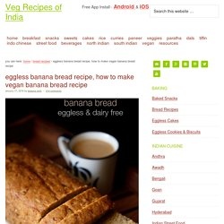 banana bread, vegan banana bread recipe