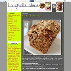 Banana bread et son streusel aux noix - La Griotte Bleue