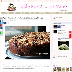 Apple Banana Coffee Cake with Chocolate Chip Streusel