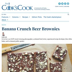 Banana Crunch Beer Brownies - The Cook's Cook