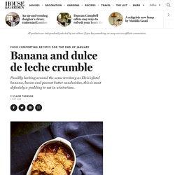 Banana and dulce de leche crumble