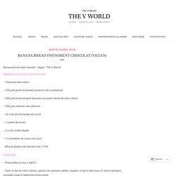 Banana bread infiniment chocolat (VEGAN) – The V World