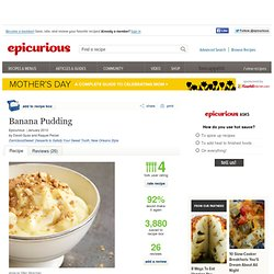 Banana Pudding Recipe at Epicurious