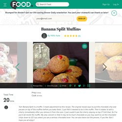 Banana Split Muffins Recipe