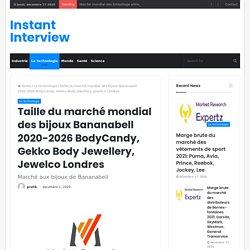 Taille du marché mondial des bijoux Bananabell 2020-2026 BodyCandy, Gekko Body Jewellery, Jewelco Londres