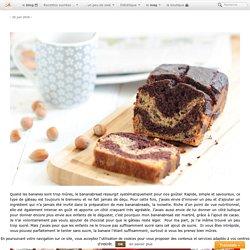 Bananabread marbré chocolat & noisette sans beurre