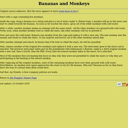 Bananas and Monkeys