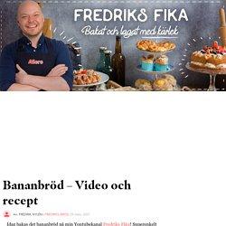 Bananbröd – Video och recept