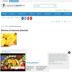 Banane et banane plantain