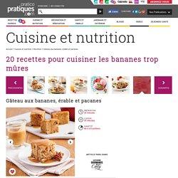 Gâteau aux bananes, érable et pacanes - Recettes