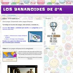 LOS BANANOIDES DE 6ºA: Zona Lengua: Comprensión sobre Juegos Olímpicos