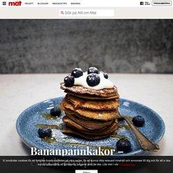 Bananpannkakor – enkelt recept