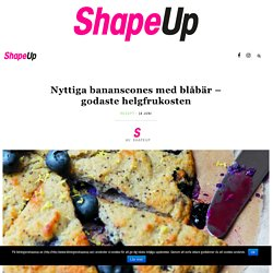Nyttiga bananscones med blåbär – godaste helgfrukosten