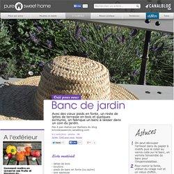 Banc de jardin - A l'extérieur