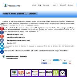 Bancos de música y sonidos CC-Symbaloo