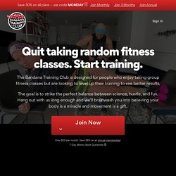 Bandana Training - Training, Nutrition, and Lifestyle Advice