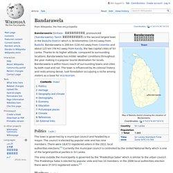 Bandarawela - Wikipedia