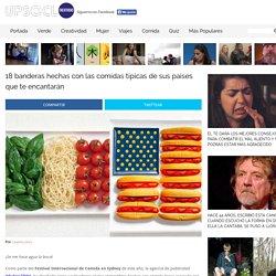18 banderas hechas con las comidas típicas de sus países que te encantarán