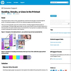 Banding, Streaks, or Lines in the Printout HP Photosmart Pro B9180 Photo Printer