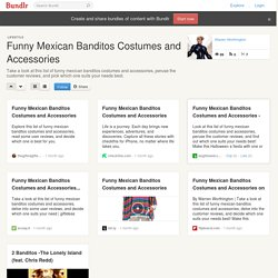 Funny Mexican Banditos Costumes and Accessories