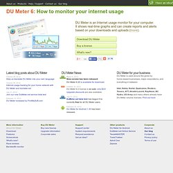 DU Meter: bandwidth monitor for your computer