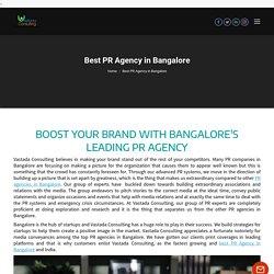 Best PR Agency in Bangalore