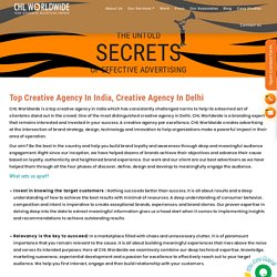 Top Creative Agency in Delhi, Noida, Bangalore India