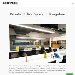 Private Office Space In Bangalore