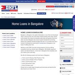 Home Loans in Bangalore, Housing Finance Company in Bangalore - DHFL