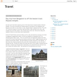 Day trip from Bangalore to off the beaten track Hoysala temples