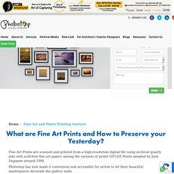 Fine Art Printing in Bangalore, Mumbai, Hyderabad - Photostop