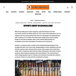 Sports Shop in Bangalore – OlympicSportingCo