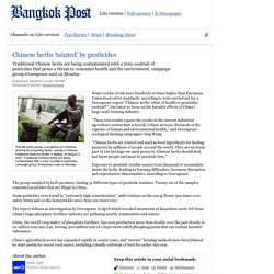 BANGKOK POST 24/06/13 Chinese herbs 'tainted' by pesticides