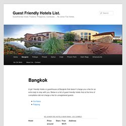 Guest friendly hotels in Bangkok