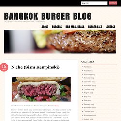 BANGKOK BURGER BLOG