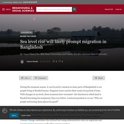 Sea level rise will likely prompt migration in Bangladesh