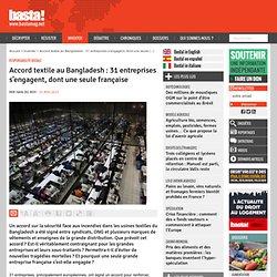 Accord textile au Bangladesh : 31 entreprises s'engagent, dont une seule française - Responsabilité sociale