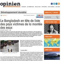 Le Bangladesh en tête de liste des pays victimes de la montée des eaux