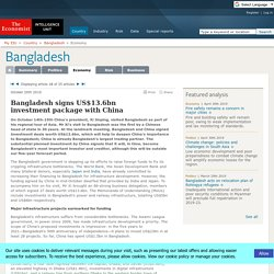 Bangladesh signs US$13.6bn investment package with China