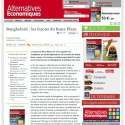 Bangladesh : les leçons du Rana Plaza