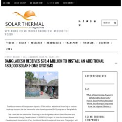 Bangladesh Receives $78.4 Million to Install an Additional 480,000 Solar Home Systems
