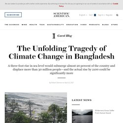 "50m Bangladeshi Refugees After 6"" Sea-Level Rise"