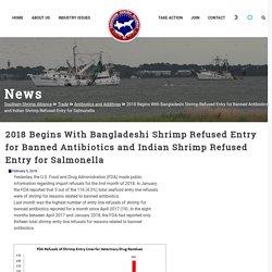 SHRIMPALLIANCE 05/02/18 2018 Begins With Bangladeshi Shrimp Refused Entry for Banned Antibiotics and Indian Shrimp Refused Entry for Salmonella