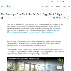 Banish Hormone-Related Brain Fog With This Easy Yoga Move