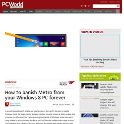 How to banish Metro from your Windows 8 PC forever