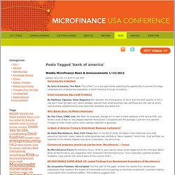 Bank Of America | Microfinance USA 2011