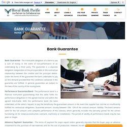 Bank Guarantee - Royal Bank Pacific