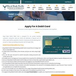 Debit card - Royal Bank Pacific